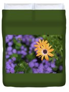 Yellow And Purple Duvet Cover