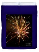Yellow And Red Fireworks Duvet Cover
