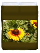 Yellow And Red In The Sunshine Duvet Cover