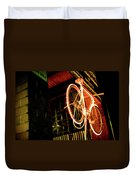 Yellow Bicycle Duvet Cover