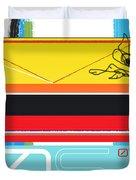 Yellow Bird Duvet Cover by Naxart Studio