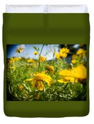 Yellow Blooming Wildflowers Duvet Cover