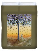 Yellow-blossomed Wishing Tree Duvet Cover