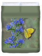 Yellow Cabbage Butterfly Duvet Cover