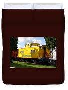 Yellow Caboose Duvet Cover