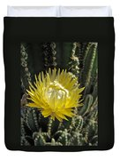 Yellow Cactus Flower Duvet Cover