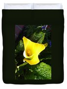 Yellow Calla Lily Duvet Cover