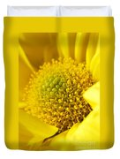 Yellow Chrysanthemum Duvet Cover