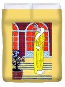Yellow Coat Duvet Cover