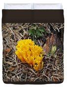 Yellow Coral Mushroom Duvet Cover