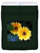 Yellow Dahlias Duvet Cover