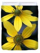 Yellow Duet Duvet Cover