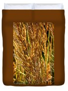 Yellow Feather Reed Grass Duvet Cover