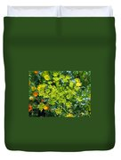 Yellow Firework Or Dill In Its Glory Duvet Cover