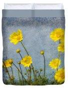 Yellow Flower Blossoms Duvet Cover