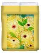 Yellow Flowers Laugh In Joy Duvet Cover by Ashleigh Dyan Bayer