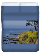 Yellow Flowers On The Central California Coast Duvet Cover