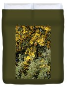 Yellow Flowers On Tree Duvet Cover