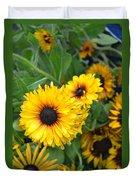 Yellow Garden Duvet Cover