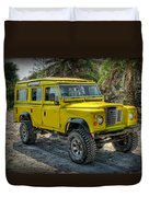 Yellow Jeep Duvet Cover