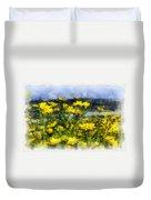 Yellow Landscape Duvet Cover