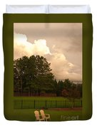Yellow Lawn Chairs Duvet Cover