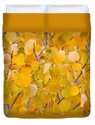 Yellow Leaf Patterns Duvet Cover
