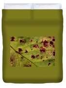 Yellow Leaf With Red Spots 2 Duvet Cover