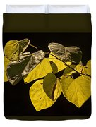 Yellow Leaves On A Tree Branch Duvet Cover