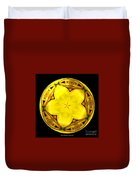 Yellow Lily Kaleidoscope Under Glass Duvet Cover