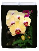 Yellow Moth Orchids Duvet Cover