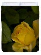 Yellow N Leaf Duvet Cover
