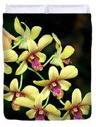 Yellow Orchid Cascade Duvet Cover