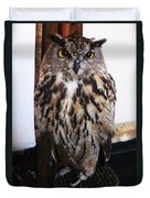 Yellow Owl Eyes Duvet Cover