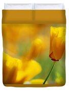 Yellow Poppy Duvet Cover