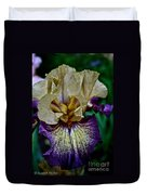 Yellow  Purple Iris Duvet Cover