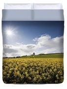 Yellow Rapeseed Field, Newgrange Duvet Cover