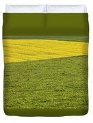 Yellow Rapeseed Growing Amongst Green Duvet Cover