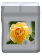 Yellow Rose Blooming Duvet Cover