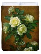 Yellow Roses Duvet Cover by Albert Williams