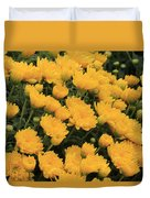 Yellow Sea Of Flowers Duvet Cover