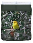 Yellow Songbird Duvet Cover