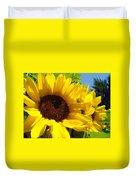 Yellow Sunflowers Art Prints Summer Sunflower Duvet Cover
