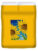 Yellow Sunflowers Duvet Cover