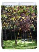 Yellow Swingset Duvet Cover