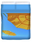 Yellow Time  Duvet Cover