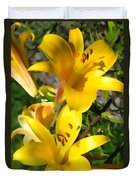 Yellow Trumpets Duvet Cover