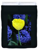 Yellow Tulip And Hyacinth Duvet Cover
