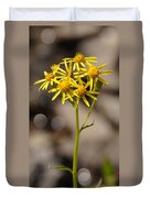 Yellow Wildflower At Crater Lake Duvet Cover