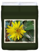 Yellow Wildflower Duvet Cover